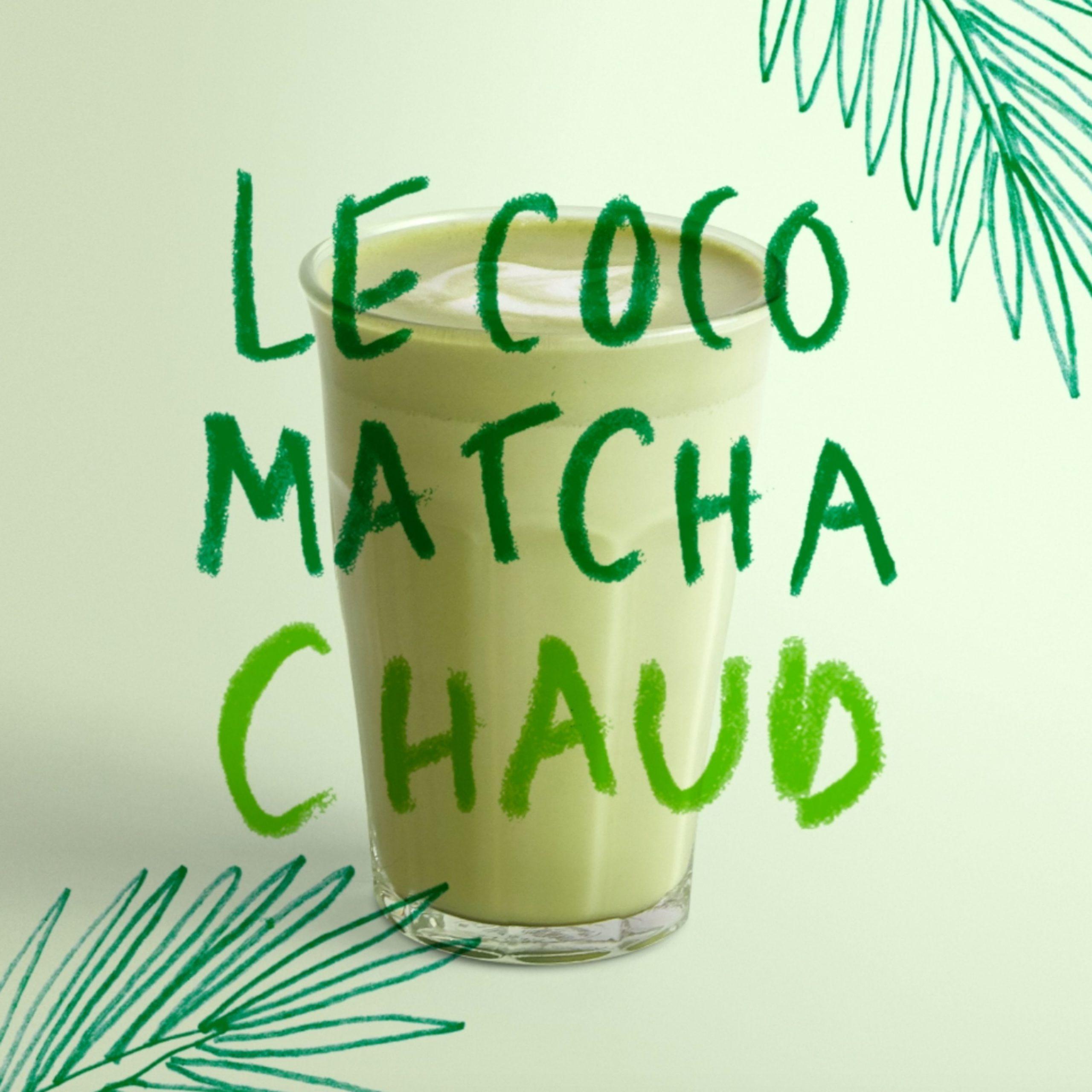 Le Coco Matcha chaud archi chaud