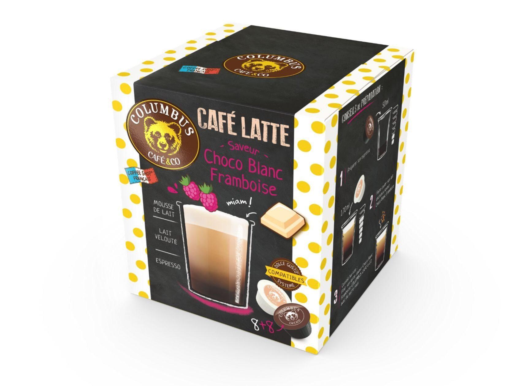 Le Café Latte saveur Framboise Choco blanc Dolce Gusto® x 16