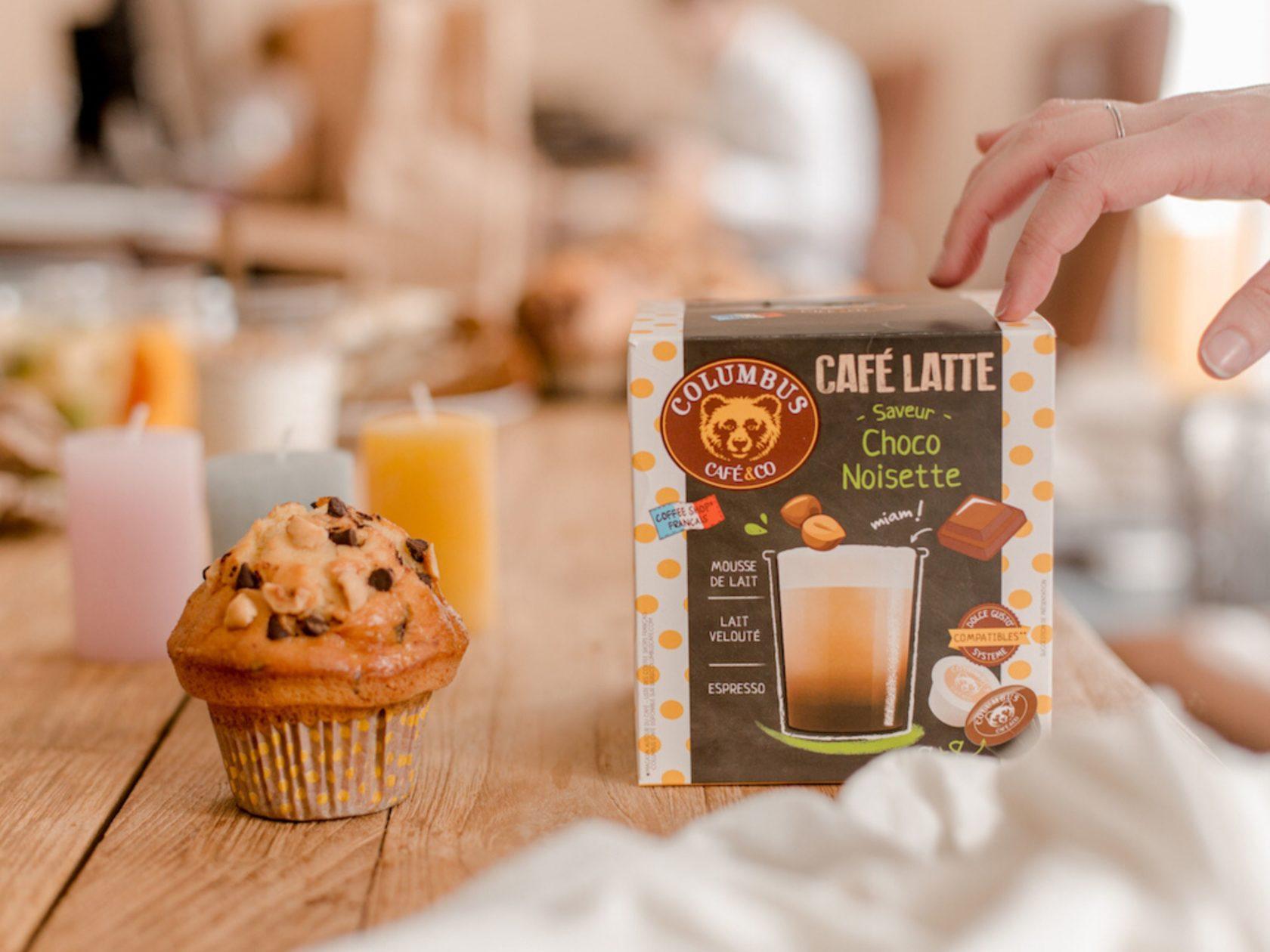 Le Café Latte saveur Choco noisette Dolce Gusto® x 16