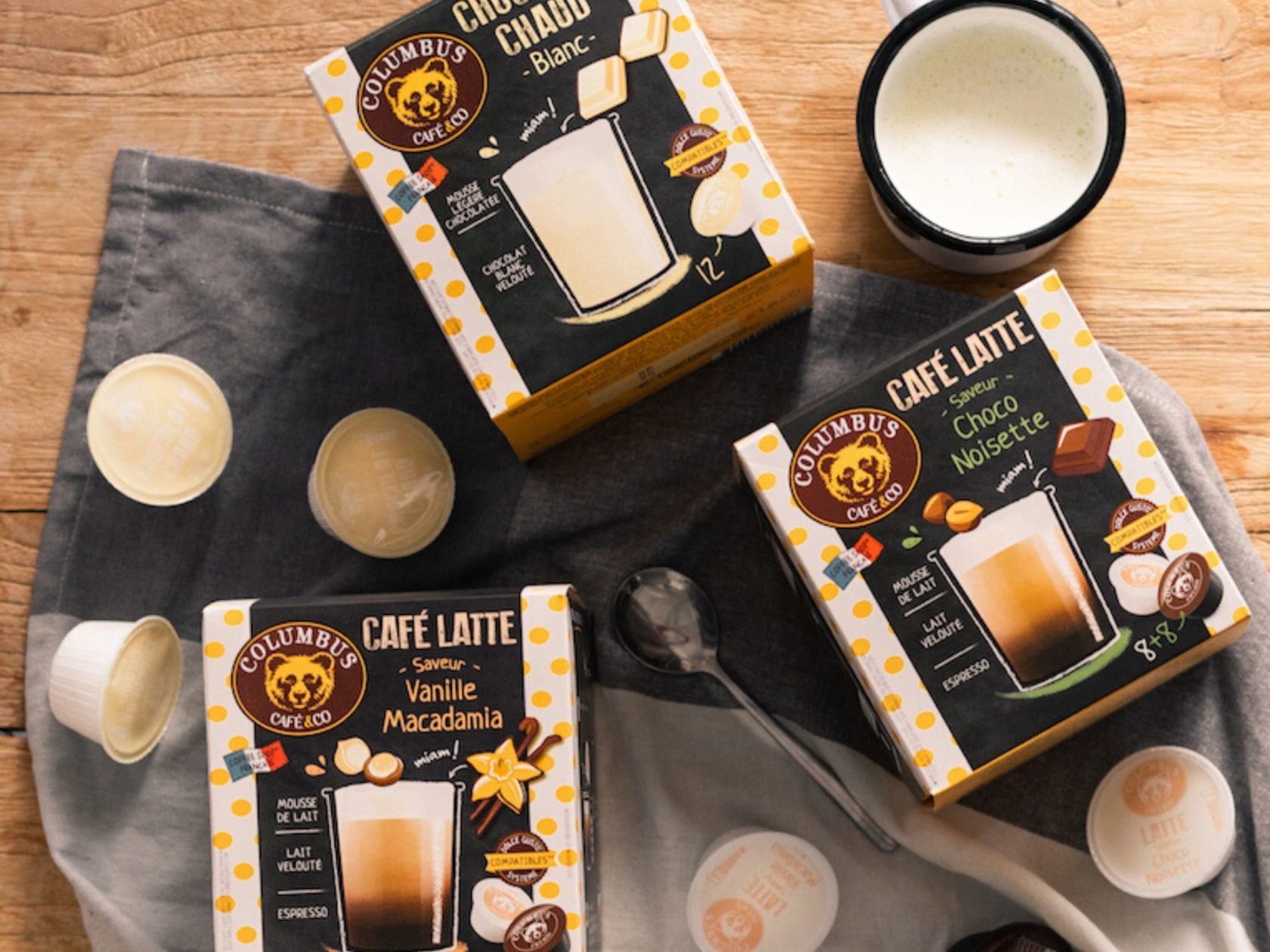 Raspberry White chocolate flavour Café Latte Dolce Gusto® x 16