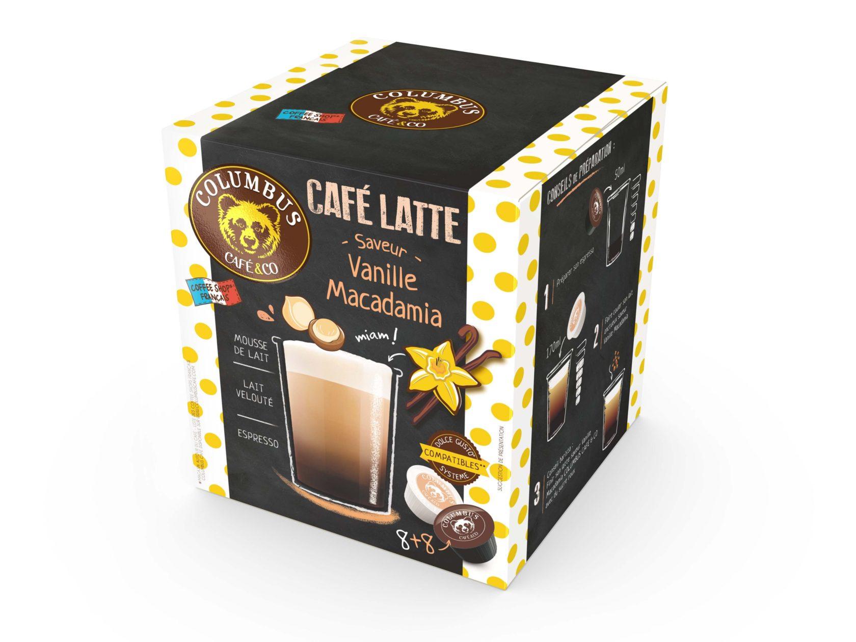 Le Café Latte saveur Vanille Macadamia Dolce Gusto® x 16