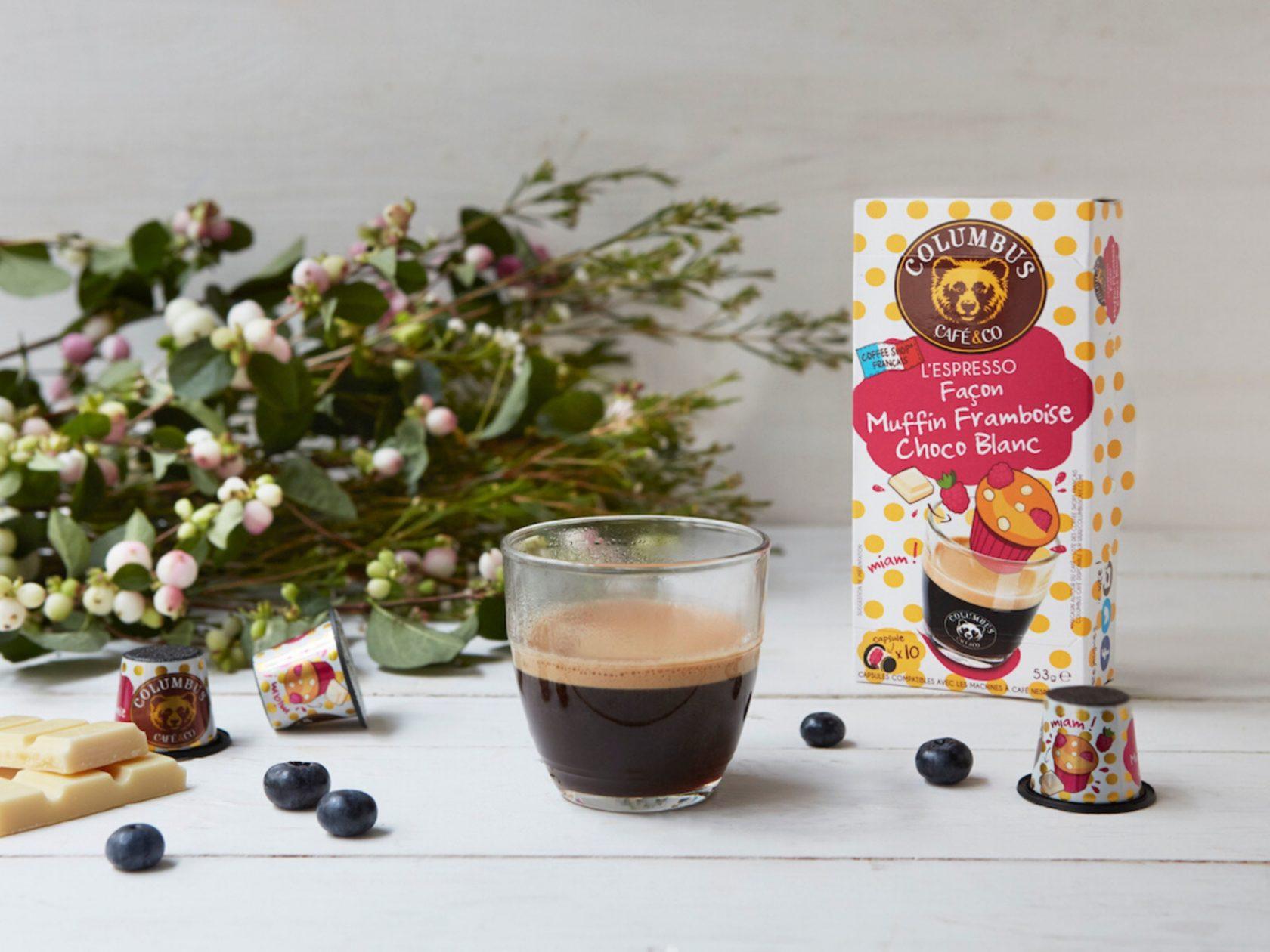 L'Espresso façon Muffin Framboise Choco blanc Nespresso® x 10