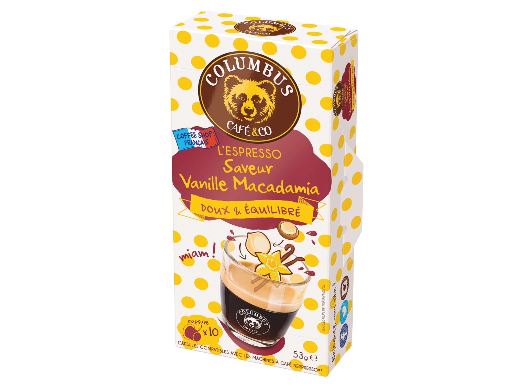 Macadamia Vanilla Flavour Espresso Nespresso® x 10