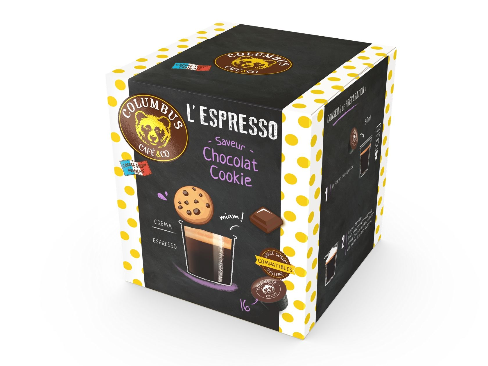 Cookie chocolate flavour espresso Dolce Gusto® x 16