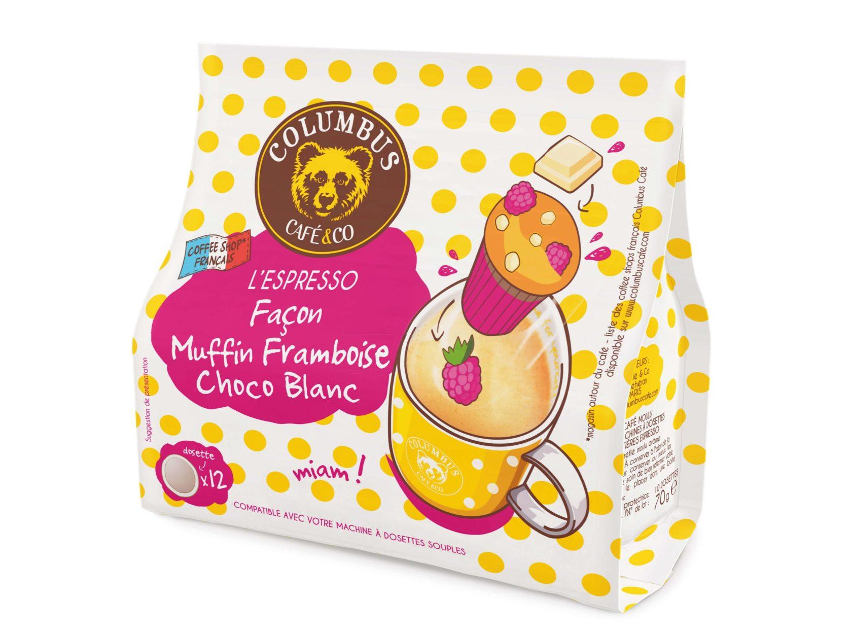 L'Espresso façon Muffin Framboise Choco blanc Senseo® x 12