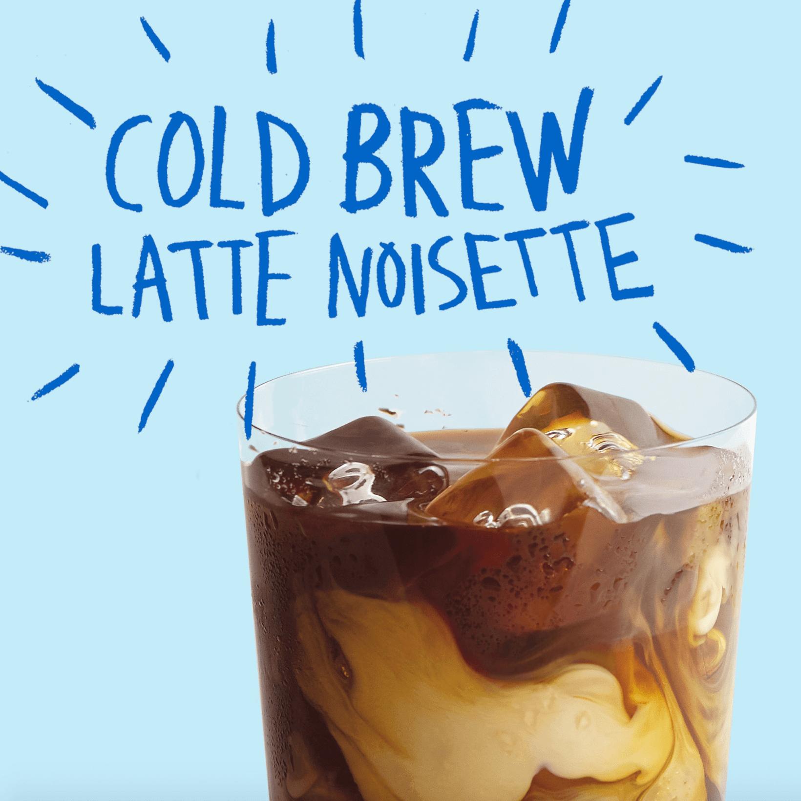 Notre Cold Brew Latte Noisette, miam !