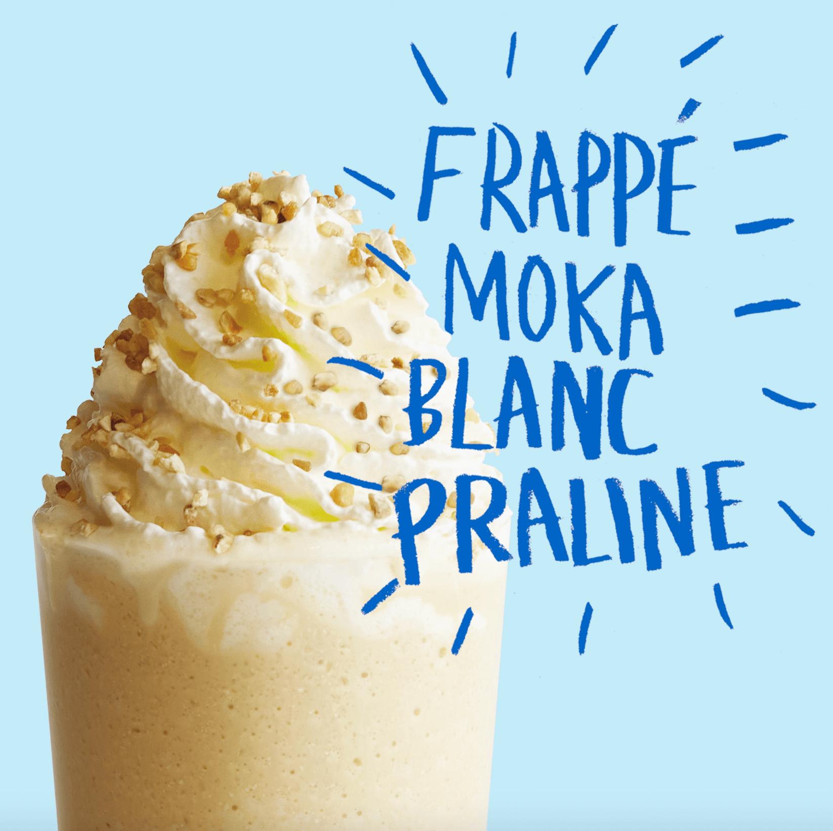 Le Frappé Moka blanc Praline pour les gourmands !