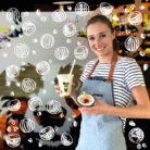 Laura du Columbus Café de La Roche sur Yon et son Milkshake Passion-Coco