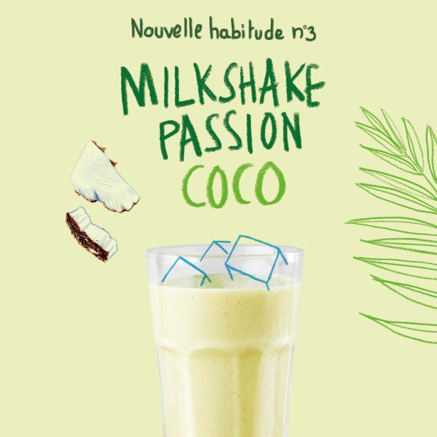 Milkshake Passion Coco (avec lactose)